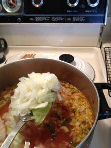 Add shredded cabbage - 14